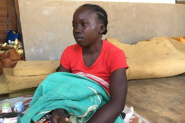 vrouw gevlucht centraal-afrikaanse republiek verkiezingsgeweld