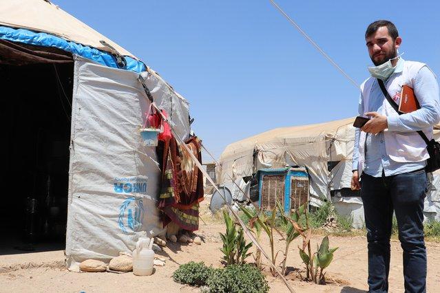 artsen zonder grenzen hulpverlener bezoekt vluchtelingen laylan-kamp kirkuk irak
