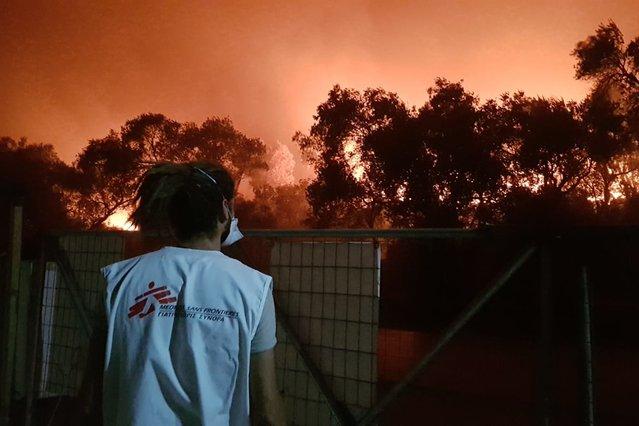 brand kamp moria 8 op 9 september 2020